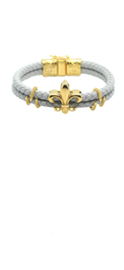 Fleur de lis with diamond cuff Bracelet