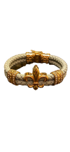 Load image into Gallery viewer, Fleur de lis with diamond cuff Bracelet