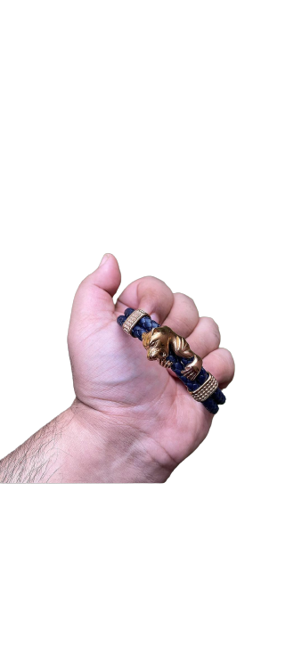Python with diamond cuff bracelet