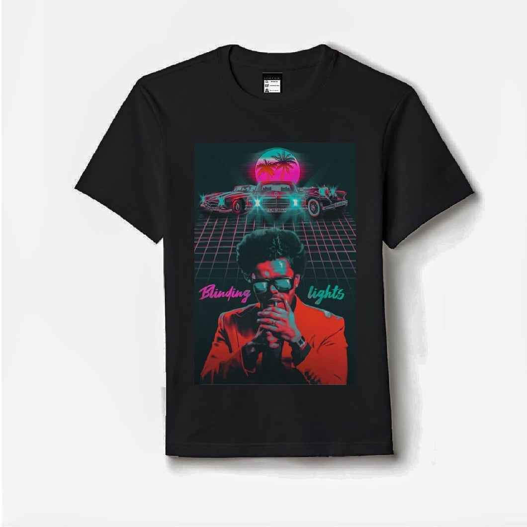 Blinding light The weeknd artist premium printed tshirt