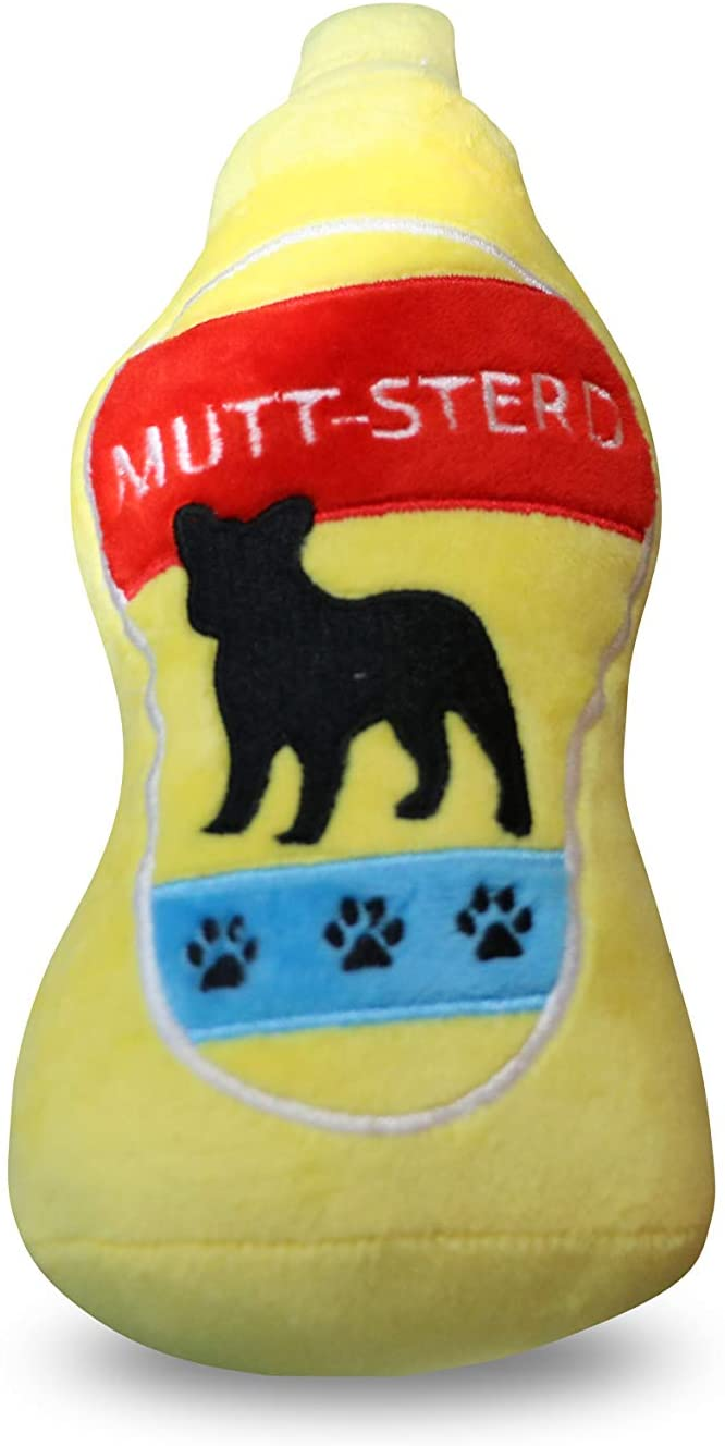 Bark Deli Muttsterd Plush Dog Toy, Great for Small and Medium Dogs Pets, Squeaky Fun
