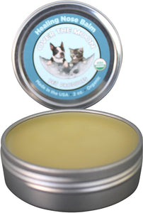 Over The Moon Pets Organic Dog Nose Balm- Unscented, Repairs Cracking, Dry Dog Noses, 2 oz. Natural Dog Sunscreen