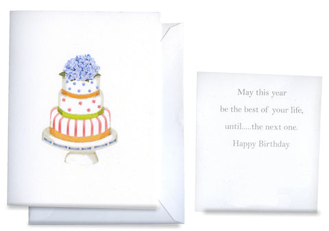 Happy Cake Folded Birthday Card - GNC202