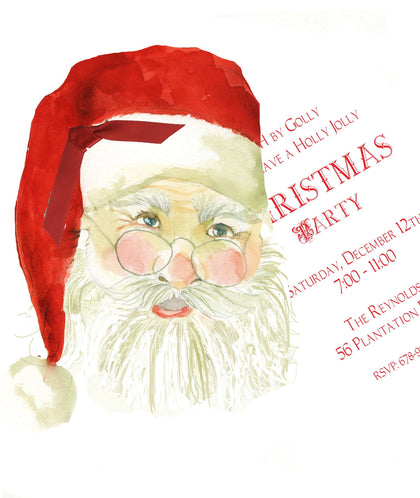 Santa Claus Christmas Invitation