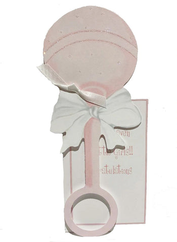 GAW805W Pink rattle with glitter