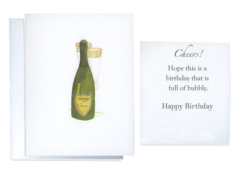 Champagne for Two Folded Birthday Card - GNC774