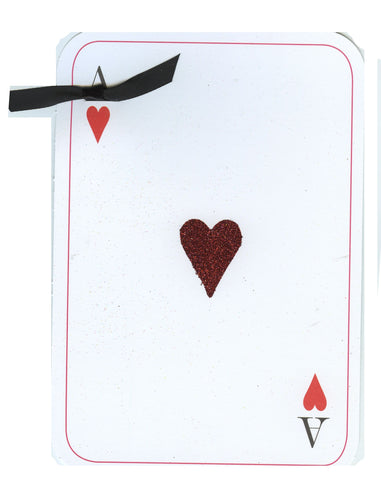 GAW961 Ace of Hearts with glitter