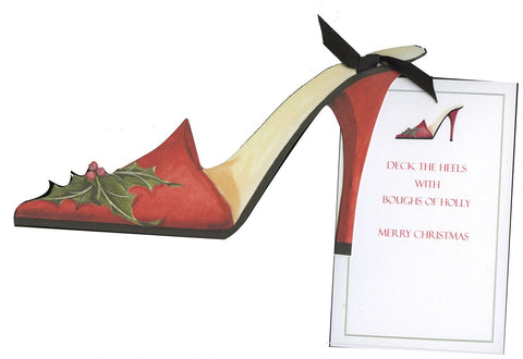 GHW725W-Holiday Shoe Greeting Card