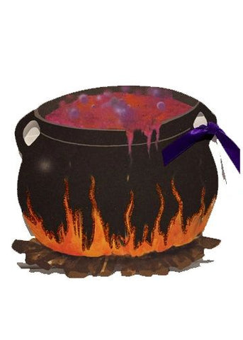GHW741W Witch's Cauldron with glitter