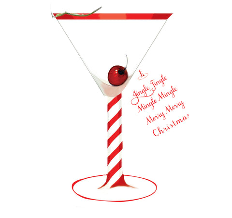GHW707W Holiday Martini with glitter