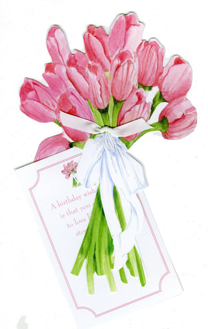 GAW915W Tulip Bouquet Greeting Card