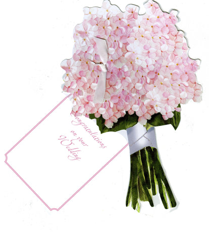 GAW1045W Hydrangea Bouquet Greeting Card
