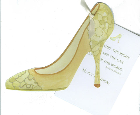 GAW1019 Brocade Shoe Birthday Card