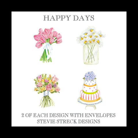 Happy Days Note Cards - GBN114W