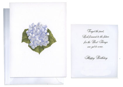 Blue Hydrangea Folded Birthday Card - GNC797