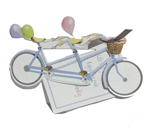 GAW1050W Bicycle Built for Two with glitter