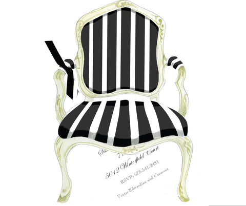 AW1068 Black and White French Chair