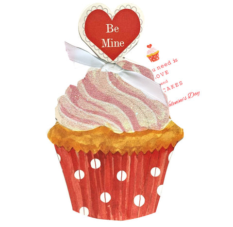 GAW994W Heart Cupcake Greeting Card
