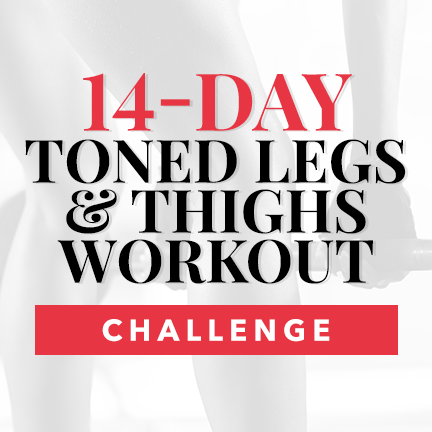 14-Day Toned Legs & Thighs Workout Challenge Calendar