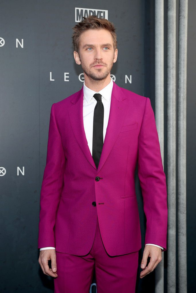 Dan Stevens in a Deep Fuchsia Suit