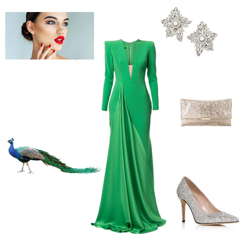 Peacock Green Winter Evening Look for Springs