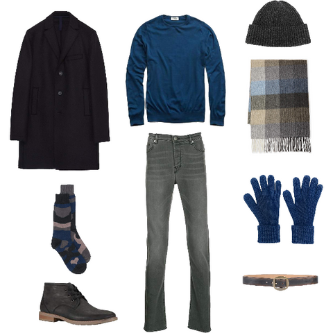 Winter Blues Outfit