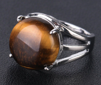 Tiger Eye Resizable Ring