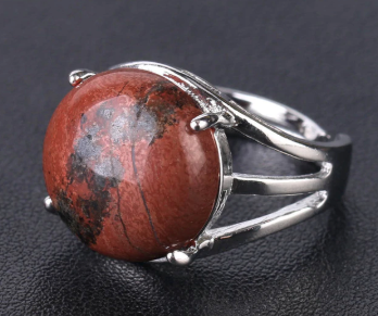 Red Jasper Resizable Ring
