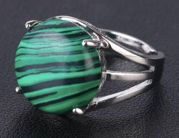 Malachite Resizable Ring
