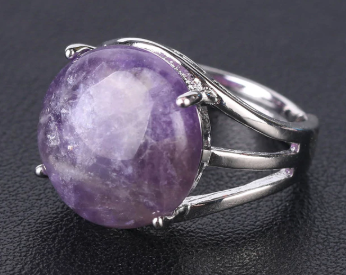 Amethyst Resizable Ring