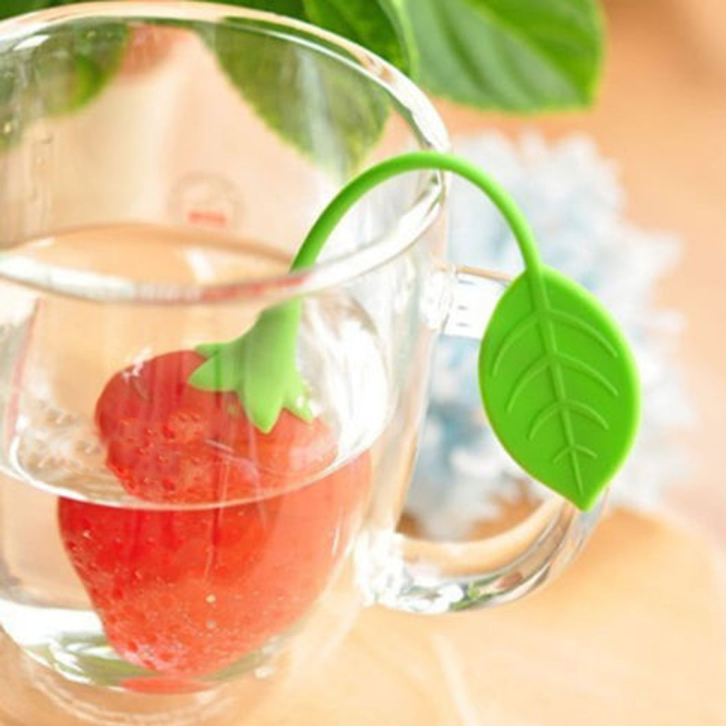 Strawberry Filter Diffuser Cute Silicone Herbal Spice Infuser