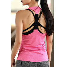 Load image into Gallery viewer, Women Yoga Top,  Sleeveless Shirts Tank Tops Singlets.