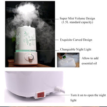 Load image into Gallery viewer, THANKSHARE 1500 ml Aroma Humidifier Diffuser, Ultrasonic  Essential Oil Humidifier