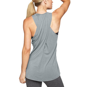 Women Training Yoga Gym Waistcoat blouses Running Jogger Sport Vest Top