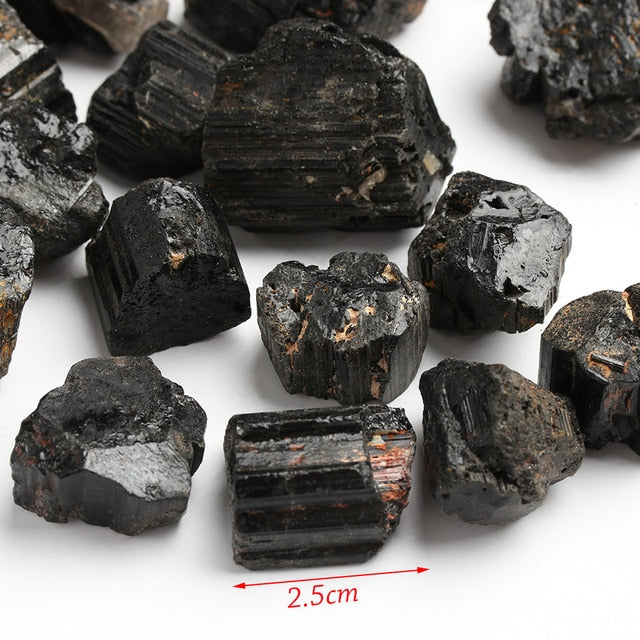 50g/pack Natural Black Tourmaline Crystal Gemstone Collectibles