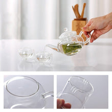 Load image into Gallery viewer, Transparent Heat Resistant Glass Teapot With Chinese Infuser Coffee Flower Tea Leaf Herbal Pot 250ml