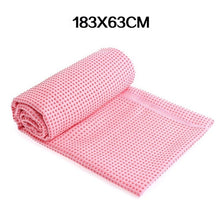 Load image into Gallery viewer, WorthWhile Fitness Gym Yoga Mat Towel Anti Skid Microfiber Cover Blanket  Non Slip