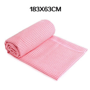 WorthWhile Fitness Gym Yoga Mat Towel Anti Skid Microfiber Cover Blanket  Non Slip