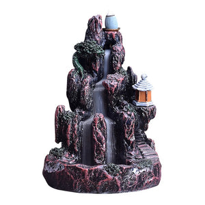 Incense Burner Backflow  Resin Home  Decor Tea house Waterfall Mountain River