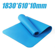Load image into Gallery viewer, 10mm Yoga Mat 1830*610*10mm with Position Line Non Slip Carpet Mat For Beginner