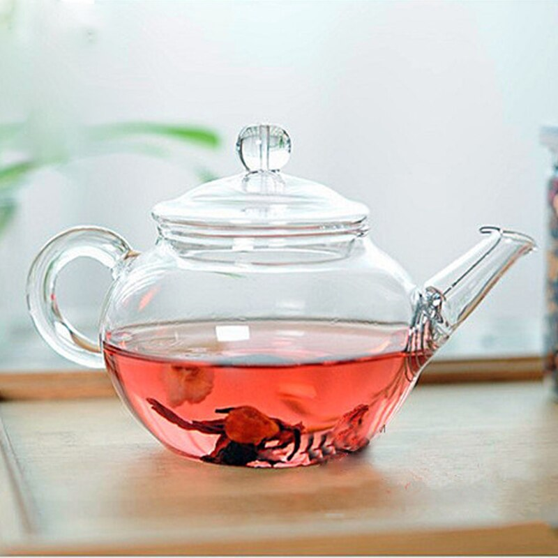 Transparent Heat Resistant Glass Teapot With Chinese Infuser Coffee Flower Tea Leaf Herbal Pot 250ml