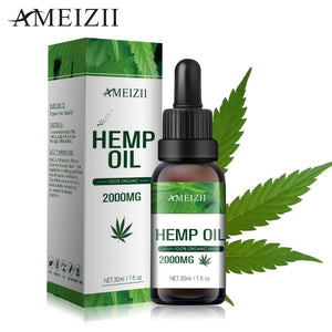 Ameizii Herbal Essential Hemp Seed Body Massage oil Skin Care- Relieves pain -Improves sleep