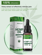 Load image into Gallery viewer, Ameizii Herbal Essential Hemp Seed Body Massage oil Skin Care- Relieves pain -Improves sleep