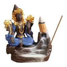 Load image into Gallery viewer, Ceramic Backflow Censer Incense Burning  Aromatherapy  Cone Diffuser Holder Buddhist Zen Censer