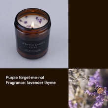 Load image into Gallery viewer, Aromatherapy Candle - Soy Wax - Brown Bottle Glass Candle Decoration-forget-me-not