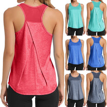 Load image into Gallery viewer, Women Workout Tops Mesh Workouts Sport Backless Tops