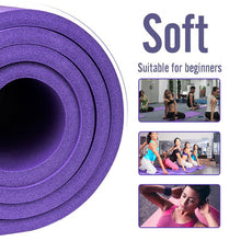 Load image into Gallery viewer, Tasteless pilates sport rubber yoga mat 10mm Home workout training fitness gymnastics mat Non slip