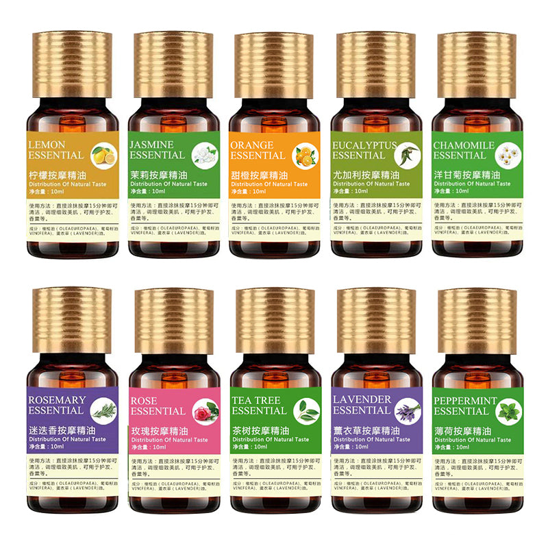 100% Pure Natural Plant Essential Oils For Aromatherapy Diffusers