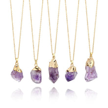 Load image into Gallery viewer, 1PC Purple Natural Amethyst Gemstone Pendant Quartz Crystal