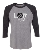 Load image into Gallery viewer, Love Raglan 3/4 Sleeve Graphic Shirt